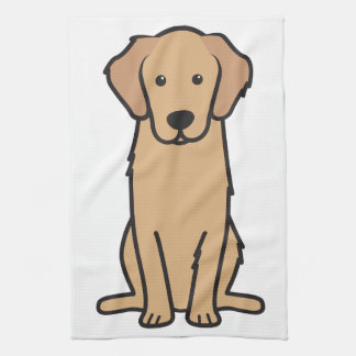 Golden Retriever Dog Cartoon Kitchen Towels