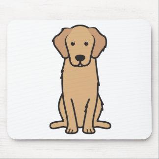 Golden Retriever Dog Cartoon Mouse Pad