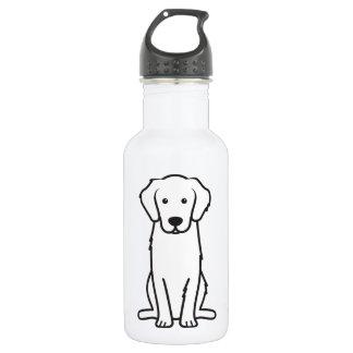 Golden Retriever Dog Cartoon 18oz Water Bottle