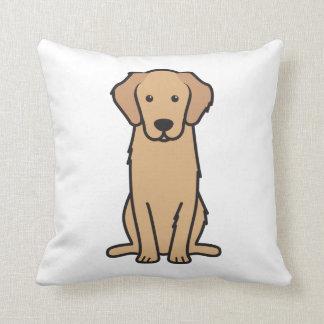Golden Retriever Dog Cartoon Pillows