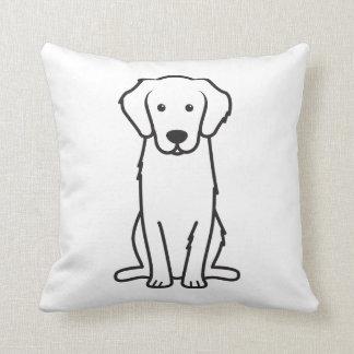 Golden Retriever Dog Cartoon Throw Pillow