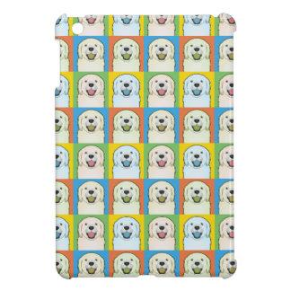 Golden Retriever Dog Cartoon Pop-Art iPad Mini Cases