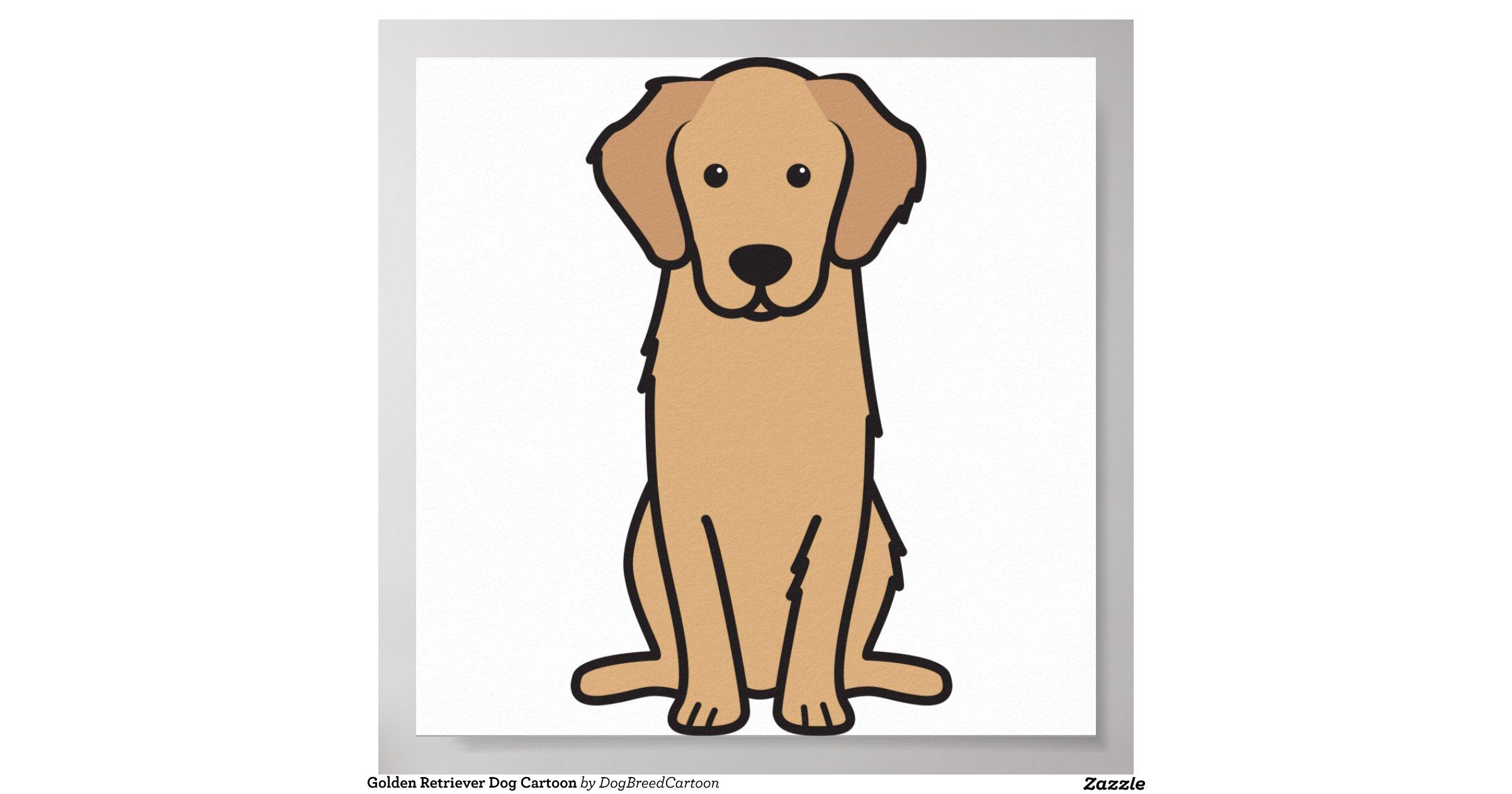 Goldenretrieverdogcartoonposter
