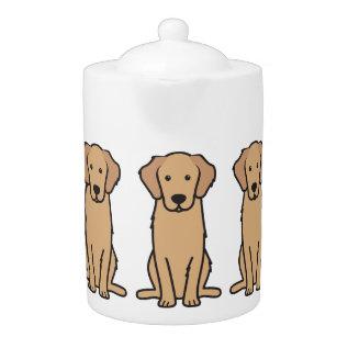 Golden Retriever Dog Cartoon Teapot at Zazzle