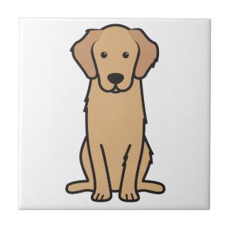 Golden Retriever Dog Cartoon Tile
