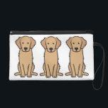 """Golden Retriever Dog Cartoon Wristlet<br><div class=""""desc"""">Golden Retriever. Design by DogBreedCartoon</div>"""