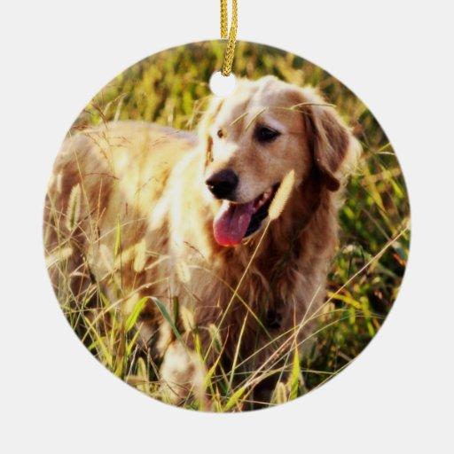 Golden Retriever Dog Christmas Tree Ornaments