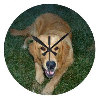 Golden Retriever dog Clock