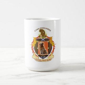 Golden Retriever dog coffee mug flag of Scotland