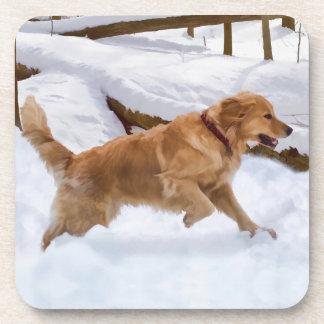 Golden Retriever Dog Cork Coaster