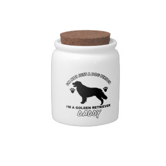 Golden retriever Dog Daddy Candy Dishes