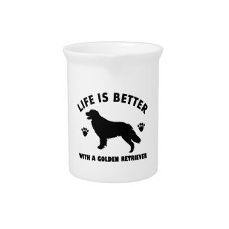 golden-retriever dog design beverage pitcher