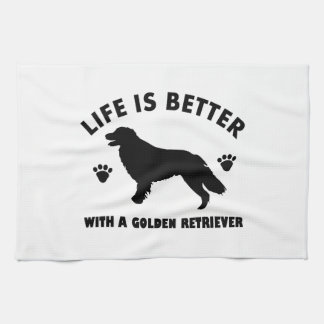 golden-retriever dog design hand towel