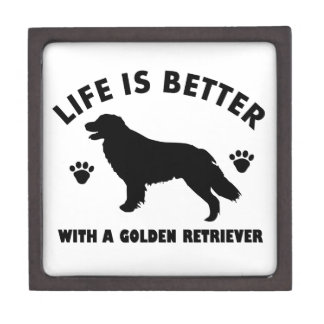 golden-retriever dog design jewelry box