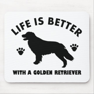 golden-retriever dog design mouse pad