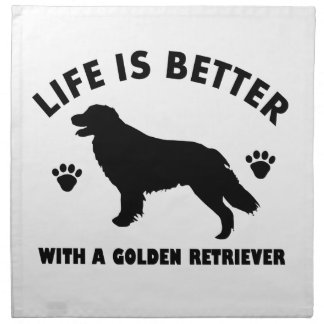 golden-retriever dog design napkin