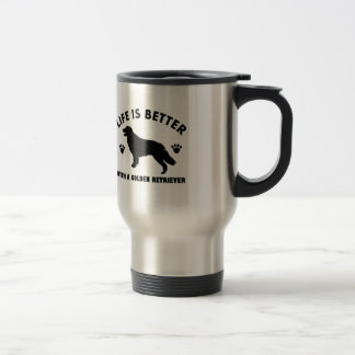 golden-retriever dog design travel mug