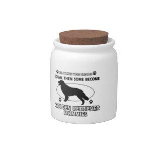 Golden Retriever dog designs Candy Jars
