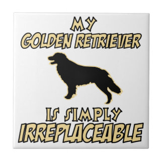 golden retriever DOG designs Ceramic Tile