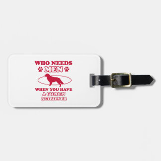 GOLDEN RETRIEVER DOG DESIGNS LUGGAGE TAG