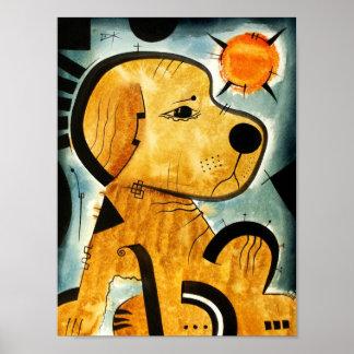 Golden Retriever dog  dk_2005aug8i Poster