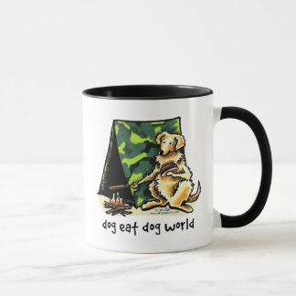 Golden Retriever Dog Eat Dog Mug