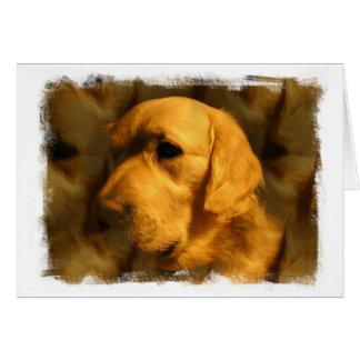 Golden Retriever Dog Greeting Card