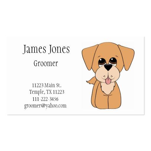Golden Retriever Dog Groomer Business Card