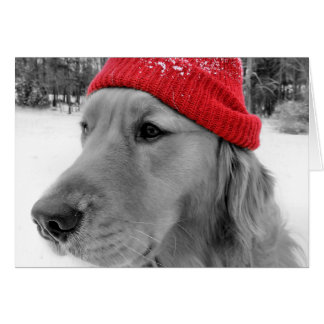 Golden Retriever Dog Happy Holidays Greeting Card