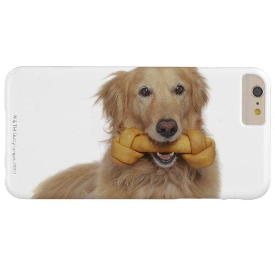 Golden Retriever Dog holding bone in mouth Blackberry Case
