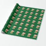 Golden Retriever Dog In Santa Hat Wrapping Paper at Zazzle
