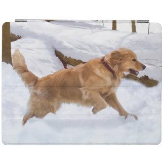 Golden Retriever Dog in the Snow iPad Cover