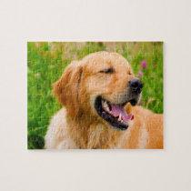 Golden Retriever Dog . Jigsaw Puzzle