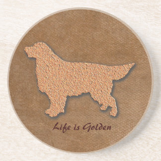 Golden Retriever Dog Life is Golden Coaster