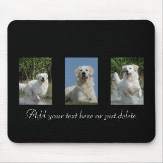 Golden Retriever dog lovers custom text mousepad