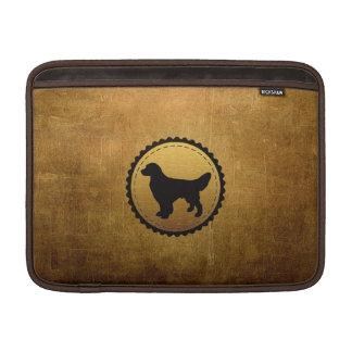 Golden Retriever Dog Medallion on Bronze MacBook Air Sleeve