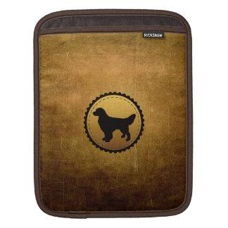 Golden Retriever Dog Medallion on Bronze Sleeve For iPads