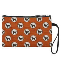 Golden Retriever Dog Medallion Pattern Wristlet Wallet