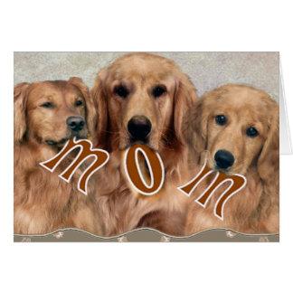 Golden Retriever Dog MOM Card