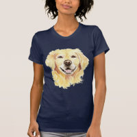 Golden Retriever Dog Pet Animal Art T-Shirt