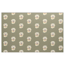 Golden Retriever Dog Pet Animal Print Fabric