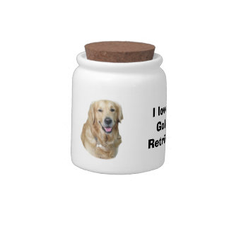 Golden Retriever dog photo Candy Jars