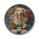 Golden Retriever dog photo Candy Tin