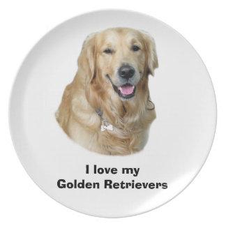 Golden Retriever dog photo Dinner Plates