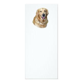 Golden Retriever dog photo portrait 4x9.25 Paper Invitation Card