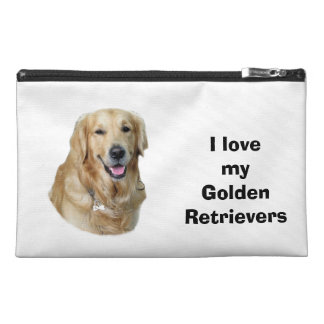 Golden Retriever dog photo portrait Travel Accessories Bags