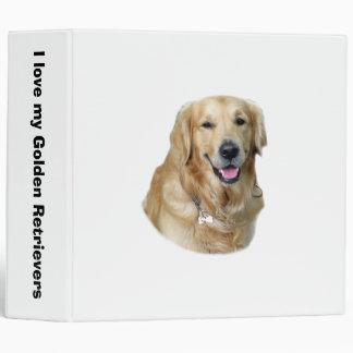 Golden Retriever dog photo portrait Vinyl Binder