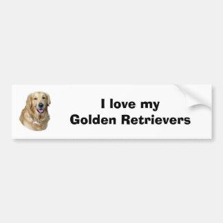 Golden Retriever dog photo portrait Bumper Sticker