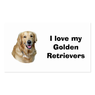 Golden Retriever dog photo portrait Double-Sided Standard Business Cards (Pack Of 100)