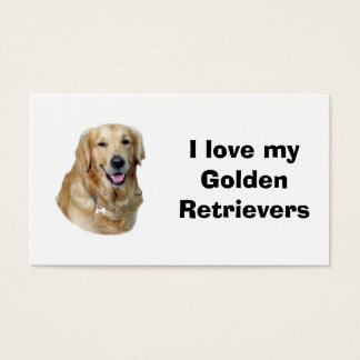 Golden Retriever dog photo portrait Business Card